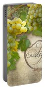 Rustic Vineyard - Chardonnay White Wine Grapes Vintage Style Portable Battery Charger