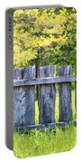 Rustic Wooden Fence At Old World Wisconsin Portable Battery Charger