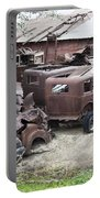 Rusting Antique Cars Portable Battery Charger