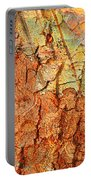 Rusty Bark Abstract Portable Battery Charger