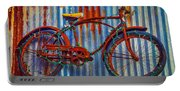 Rusty Bike With Lights Portable Battery Charger