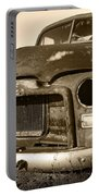 Rusty But Trusty Old Gmc Pickup Portable Battery Charger by Gordon Dean II
