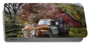 Rusty Chevy Pickup Truck Portable Battery Charger