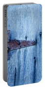 Rusty Hinge In The Blue Of The Evening Portable Battery Charger