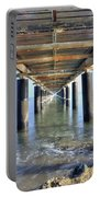 Rusty Pier  On The Ocean  From Below Portable Battery Charger