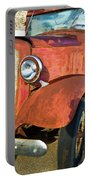 Rusty Red Chevrolet Pickup Truck 1934 Portable Battery Charger