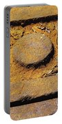 Rusty Texture Macro Portable Battery Charger