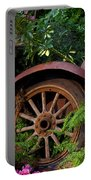 Rusty Truck In The Garden Portable Battery Charger