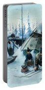 Saami Family At The Hut Portable Battery Charger