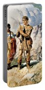 Sacagawea With Lewis And Clark During Their Expedition Of 1804-06 Portable Battery Charger by Newell Convers Wyeth