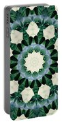 Sacramento Green And Cerulean Blue Mandala Portable Battery Charger