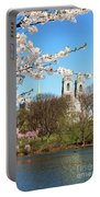 Sacred Heart And Branch Brook Cherry Blossoms  Portable Battery Charger