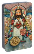 Sacred Heart Of Jesus Portable Battery Charger