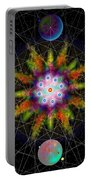 Sacred Planetary Geometry - Dark Red Atom Portable Battery Charger