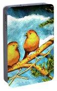 Saffron Finch Birds #88 Portable Battery Charger