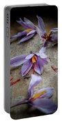 Saffron Flower Portable Battery Charger