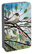 Sage Glimmering Songbird  Portable Battery Charger