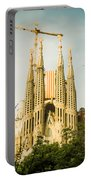 Sagrada Familia With Catalonia's Flag Portable Battery Charger