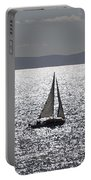 Sail Boat In A Sea Of Diamonds  Portable Battery Charger