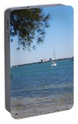Sail Boat On Sarasota Bay Portable Battery Charger
