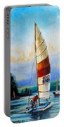 Sail Boats On The Lake Portable Battery Charger