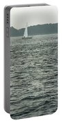 Sailboat And Waves, Piscataqua River, Maine 2004 Portable Battery Charger