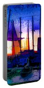 Sailboats At Rest Portable Battery Charger