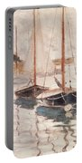 Sailboats On The Seine Portable Battery Charger