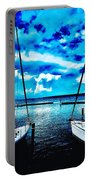 Sailboats Watching Weather Portable Battery Charger