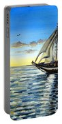 Sailing Day Sunset Portable Battery Charger