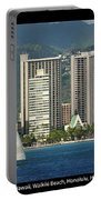 Sailing Off Waikiki Portable Battery Charger