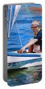 Sailing On Lake Thunderbird Portable Battery Charger