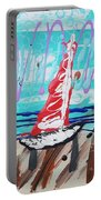 Sailing The Coast Abstract Portable Battery Charger
