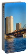 Sailing Under The Brooklyn Bridge - Impressions Of Manhattan Portable Battery Charger