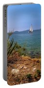 Sailing Waterfront Of Prvic Island View Portable Battery Charger