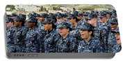 Sailors Yell Before An All-hands Call Portable Battery Charger