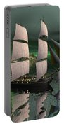 Sailship In The Night Portable Battery Charger