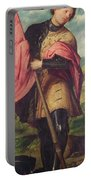 Saint Alexander A Panel From The Altarpiece The Nativity With Saints Portable Battery Charger