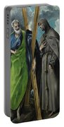 Saint Andrew And Saint Francis Portable Battery Charger