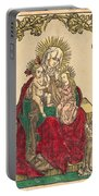 Saint Anne, The Madonna And Child, And A Franciscan Monk Portable Battery Charger