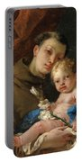 Saint Anthony Of Padua And The Infant Christ Portable Battery Charger