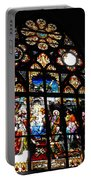 Saint Augustine Stained Glass Portable Battery Charger