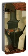 Saint Bruno And Pope Urban II Portable Battery Charger by Francisco de Zurbaran