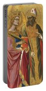 Saint Catherine And A Bishop Saint Possibly Saint Regulus Portable Battery Charger