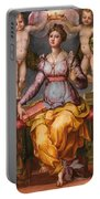 Saint Catherine Of Alexandria Crowned By Two Angels Portable Battery Charger