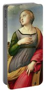 Saint Catherine Of Alexandria Portable Battery Charger by Raphael