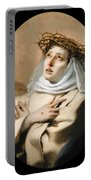 Saint Catherine Of Sienna Portable Battery Charger