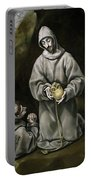 Saint Francis And Brother Leo Meditating On Death Portable Battery Charger