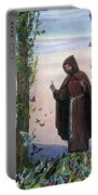 Saint Francis Of Assisi Preaching To The Birds Portable Battery Charger