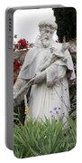 Saint Francis Statue In Carmel Mission Garden Portable Battery Charger